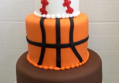3 tiered sports cake